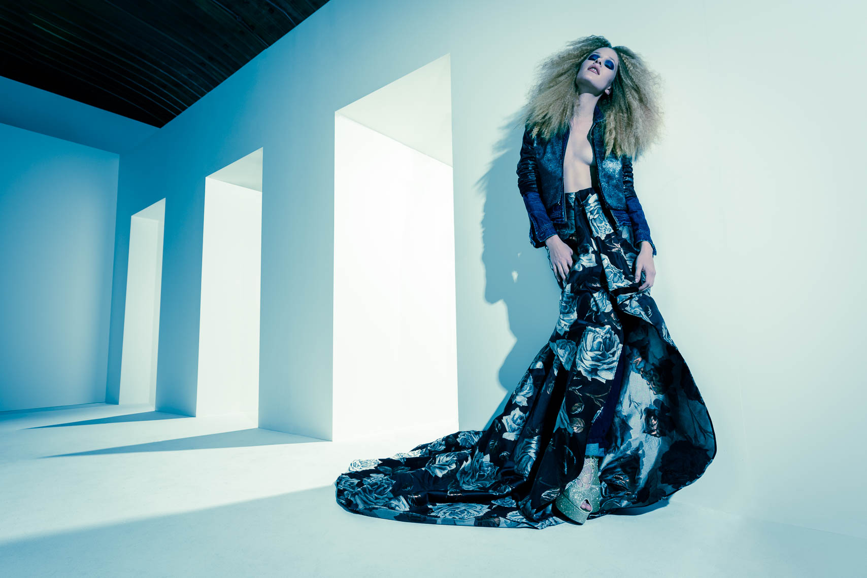 Vulkan Magazine editorial fashion image in blue