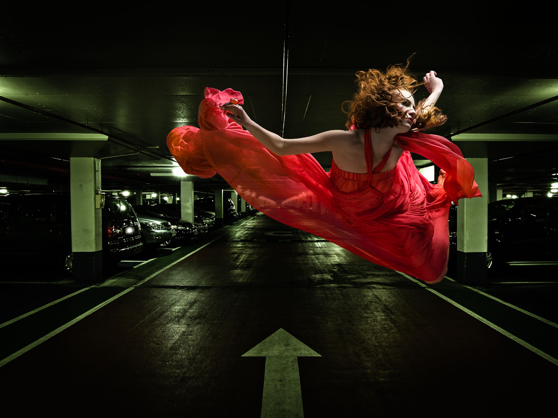 fashion-photograph-of-girl-floating-red-dress